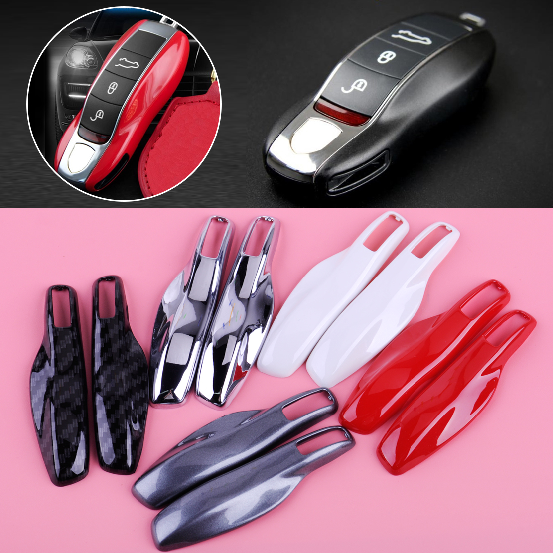 Abs Smart Remote Key Case Ring Shell Holder Cover For: CITALL ABS Smart Remote Key Case Fob Cover Modified Key