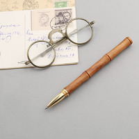 High Quality 0 5mm Black Ink Pen Luxury Wood Ballpoint Pen Brass Ball Pen Office Supplies