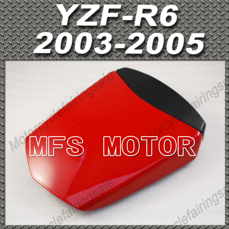 Motorcycle Rear Pillion All Red Injection ABS Seat Cowl Cover For Yamaha YZF-R6 2003-2005 04