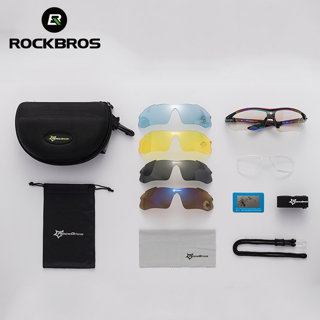 e89f6a0e2d RockBros Polarized Cycling Sun Glasses Outdoor Sports Bicycle Glasses  Goggles Eye wear with 5 Lens