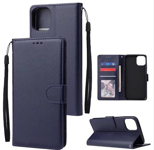 50pcs lot Solid color Wallet PU Leather TPU Case For iphone 5 8 inch 2019 6