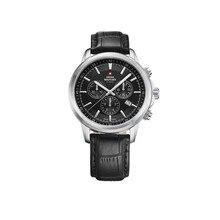 Наручные часы Swiss Military SM34052.08 мужские с кварцевым хронографом на кожаном ремешке