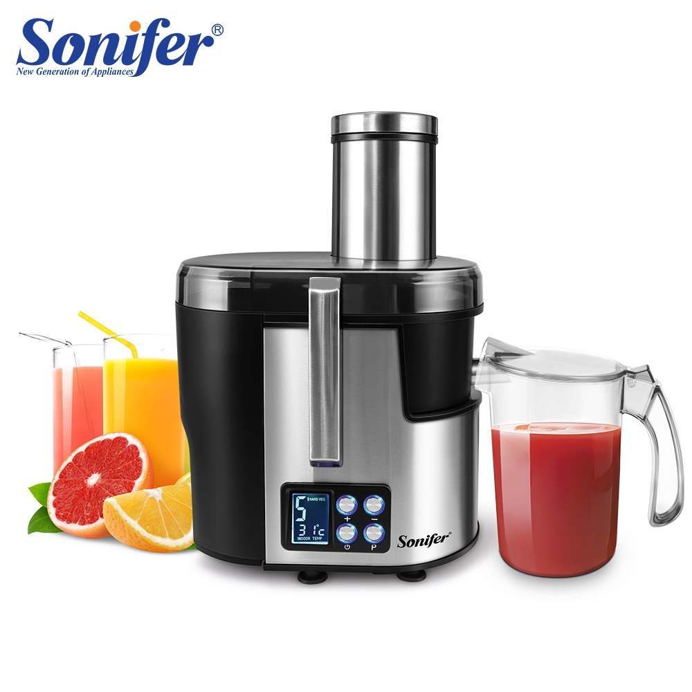 5 Speed Stainless Steel Juicers LCD Display 220V Electric Juice Extractor Fruit Drinking Machine For Home Sonifer