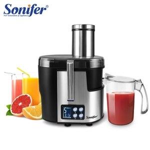 Image 1 - Machine à boire électrique de Fruit dextracteur de jus de laffichage 220V daffichage à cristaux liquides de presse agrumes dacier inoxydable de 5 vitesses pour le Sonifer à la maison