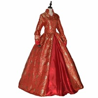 Queen Elizabeth I / Tudor Gothic Jacquard Dress Game of Thrones Ball Gown Theatrical Clothing 16 Kinds of Printing Choose