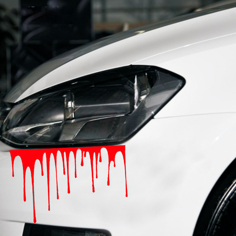 halloween decoration stickers 3d funny car styling 1511cm halloween horror blood drips car