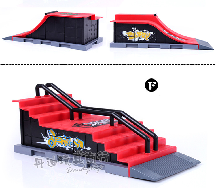 SYMA Fun Skate Park Ramp Track Finger Board Parts for Desk Fingerboard Indoor Table Game Finger Skateboard for Kids Adults