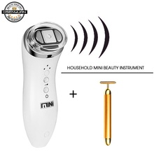 Ultrasonic Bipolar RF Radio Frequency Lifting Face Skin Care Massager Mini Hifu Anti Wrinkle Tightening Device цена и фото