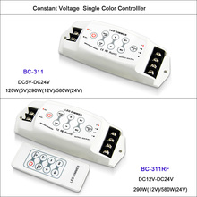 New CV Single Color LED Dimmer Controller 3 channel Output dimmer 8A*3CH RF remote Wireless PWM LED dimmer DC5V-24V