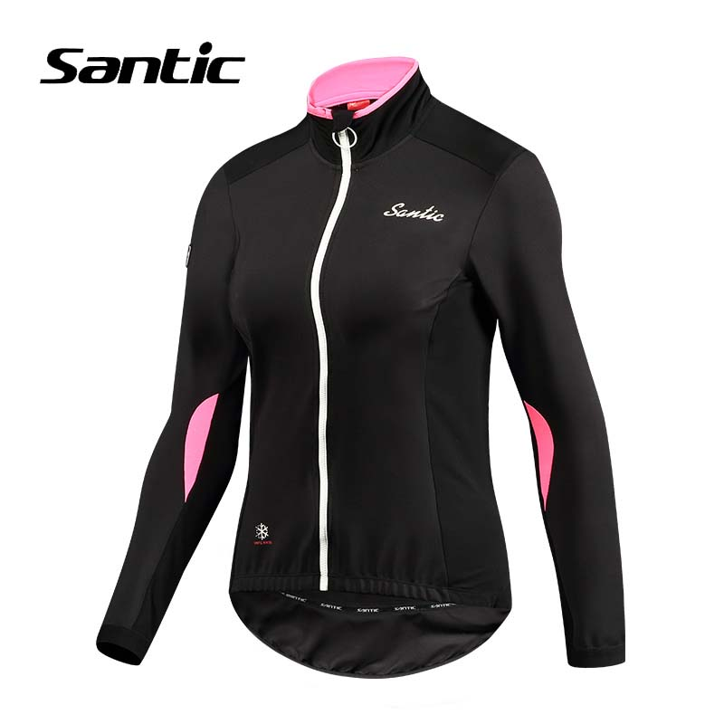 Santic 2018 Windproof Cycling Jacket Spring Autumn Warm Bicycle Clothing Women Riding Jacket Coat Outdoor Sports MTB Bike Jersey outdoor sports cycling mask bike riding variety turban magic bicycle designal scarf women scarves