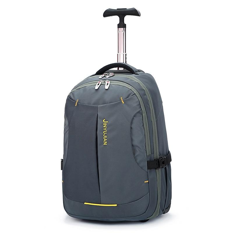 LeTrend grande capacité Oxford sac de voyage hommes mot de passe roulant bagages hommes sac à dos valises roue porter des sacs à bandoulière