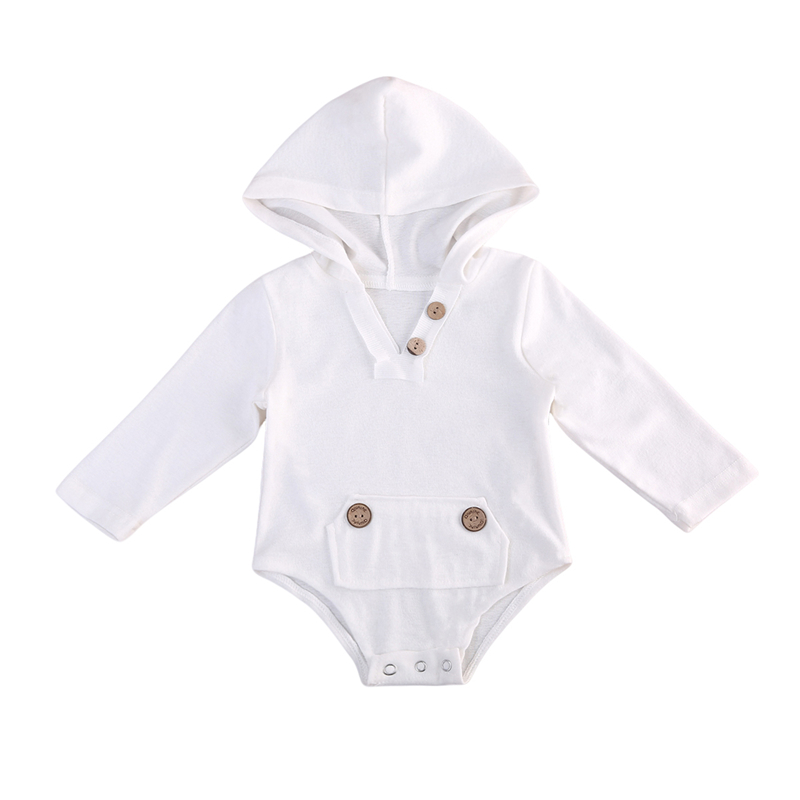 Baby Hooded Romper Newborn Baby Boy Girl Long Sleeve Fall Romper Body Suit For Newborns Hot Sale 2017 New Bebes Jumpsuit 0-18M