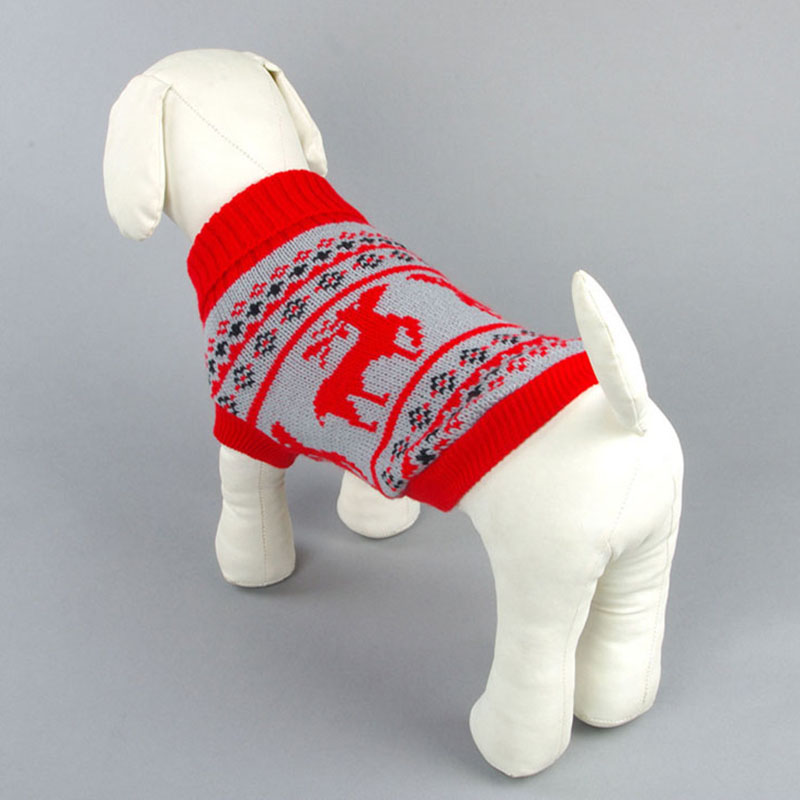 Small Dog Cat Sweater Knit Hoodies For Kitten And Doggy Cute Reindeer Pet Cat Costume Christmas Xmas Cat Clothes Xs S M L Xl 2xl #4