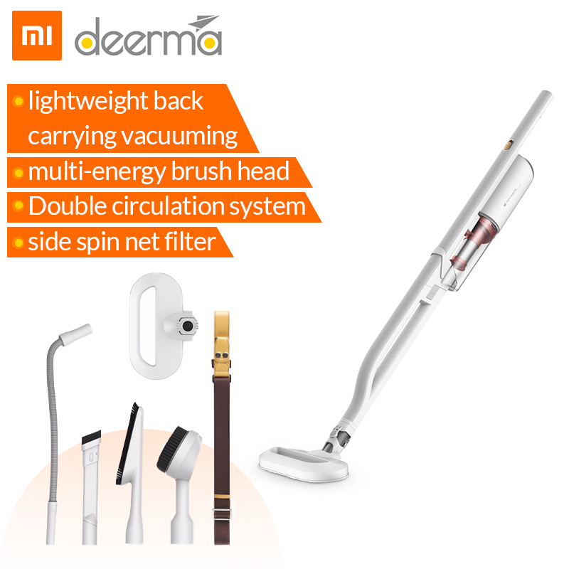 xiaomi deerma handheld vacuum cleaner multifunctional dx800 shoulder style portable aspirador 4. Black Bedroom Furniture Sets. Home Design Ideas