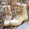 TTGTACTICAL Ultra Ligero Táctico Botas de Los Hombres de Combate Del Ejército SWAT Botas de Asalto Repelente Al Agua Senderismo Trekking Zapatos Del Desierto