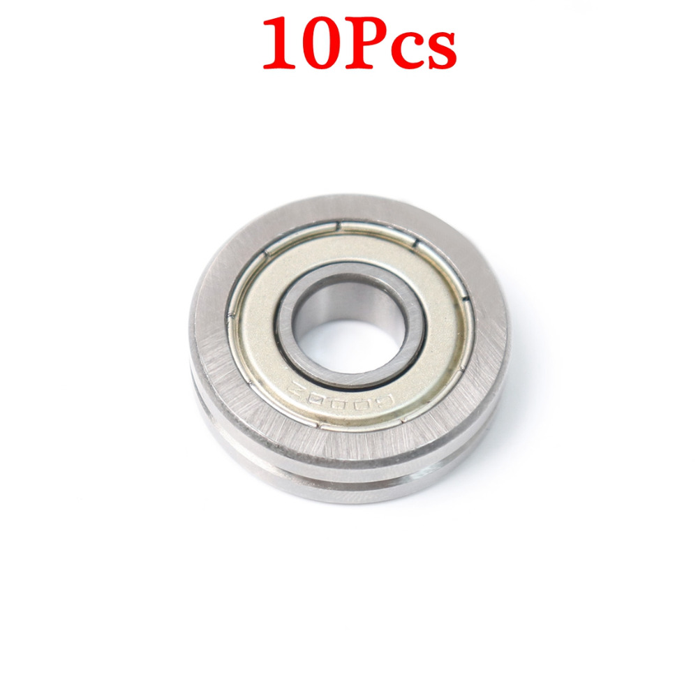 Hot A1001-ZZ Ball Bearing 10*30*8 mm V Groove Top Quality Bearing steel Bearing Low Noise Roller guide Bearing for heavy rail tv0630 tv0630vv v groove pulley ball bearings 6 30 8 mm track guide roller bearing
