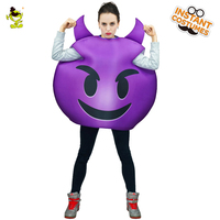 Woman Evil Emoticon Costume Carnival Party Role Play Cartoon Demon Outfits for Women Halloween Cosplay Cute Devil Emoji Costumes