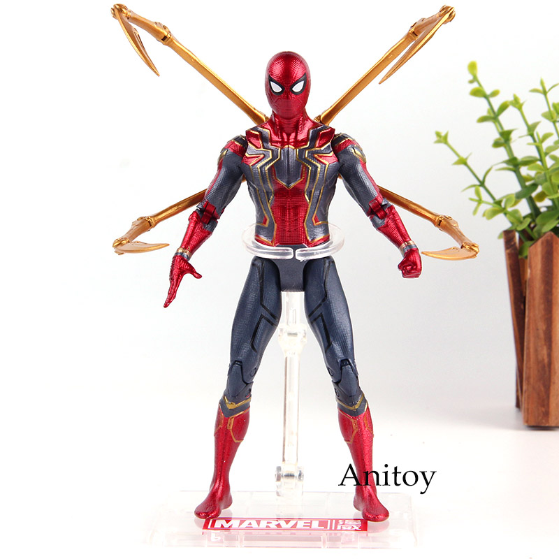 Marvel Legends Avengers Infinity War Iron Spider Spiderman Figure PVC Spider-man Figure Action Collection Model Toys for Boys saintgi marvel avengers assemble iron man tony stark animated doll super heroes 15cm pvc action figure collection model toys