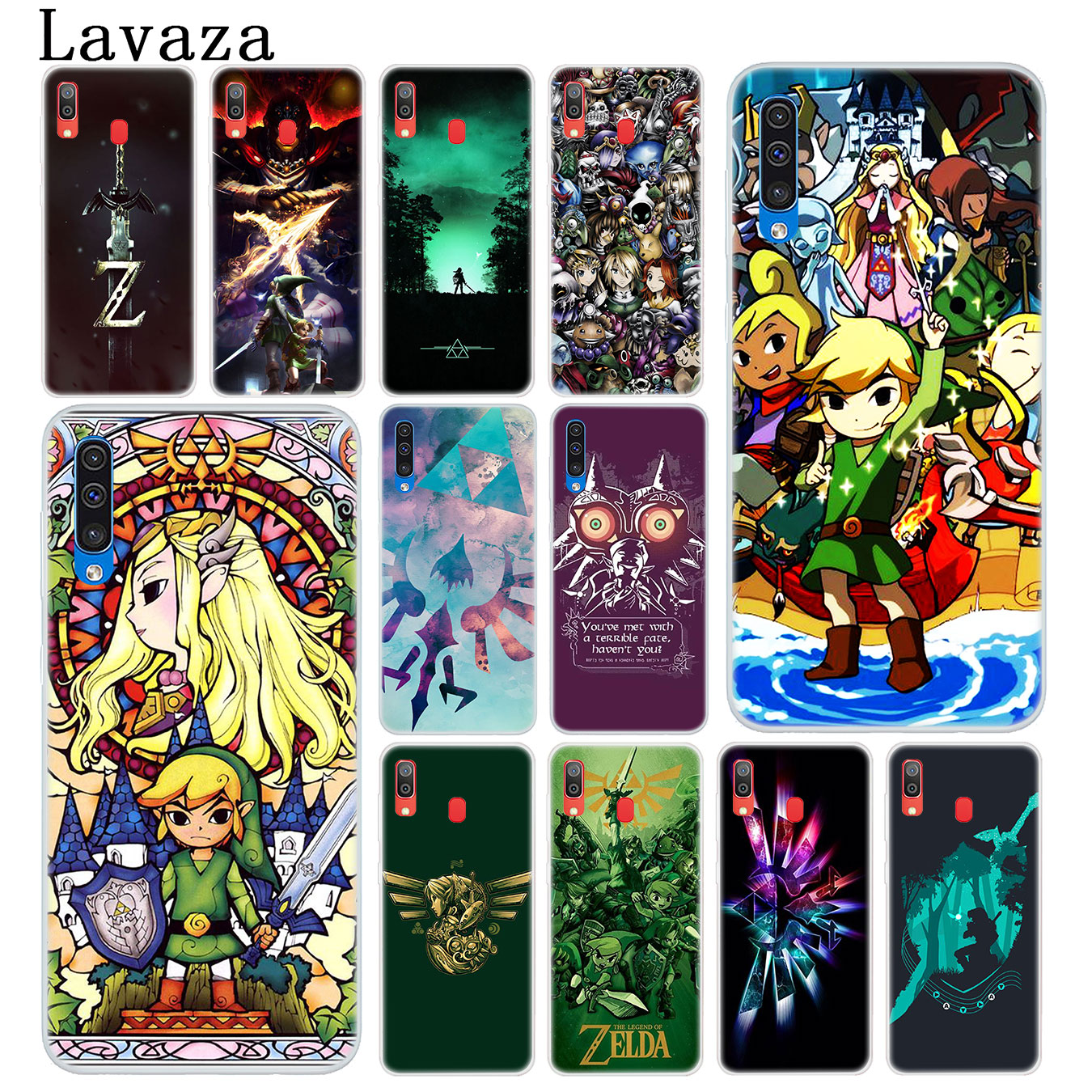 Lavaza Legend Of Zelda Hard Phone Case for Samsung Galaxy A10 A20 A30 A40 A50 A60 A70 M10 M20 M30 M40 A20e Cover image