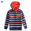 Novatx bebê crianças jaqueta para meninos casaco listrado primavera e outono crianças hoodies carros impressos meninos roupas outerwear a5991