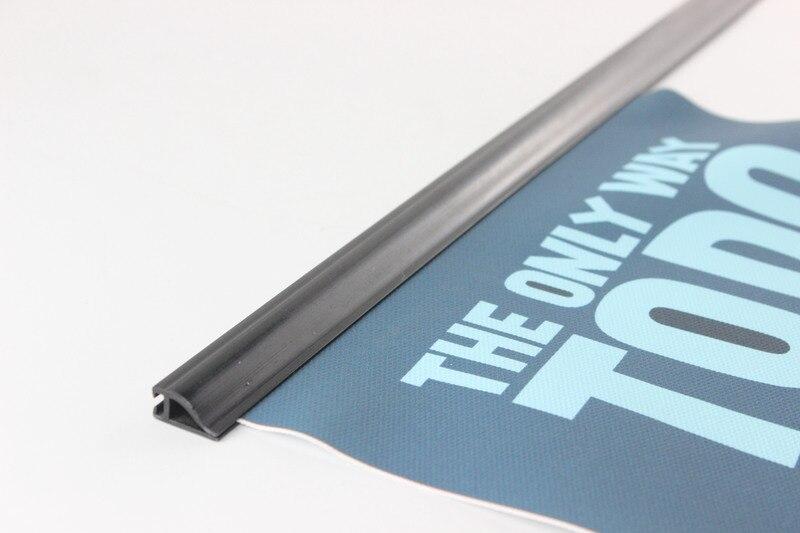 80cm shop banner clips plastic poster hanger extruded clip strip poster hanger rails poster snap frame