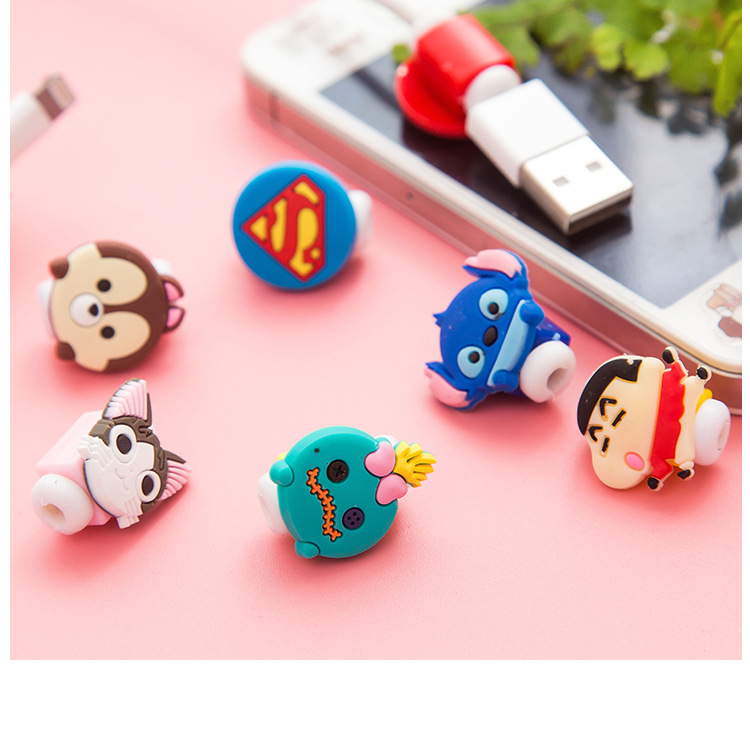 Fashion 50pcs/lot Cartoon USB Cable Earphone Protector headphones line saver For Samsung HTC charging line data cable protection