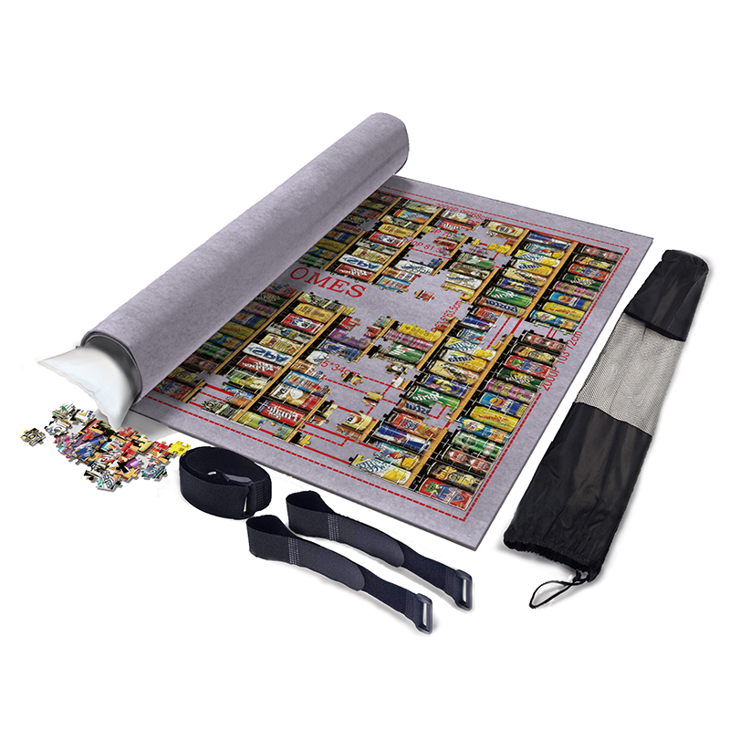 3mm Thicken Puzzles Mat Jigsaw Roll Mat Playmat Large 2000 3000 6000pcs Puzzle Accessories Storage Portable Travel Games W/ Bag