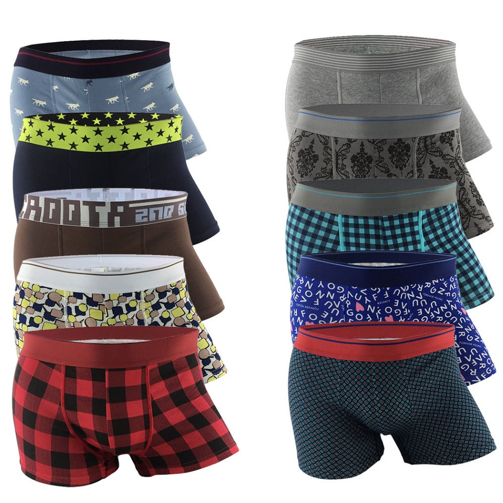 Cotton Boxer Underwear Trunk Sexy Breathable Unique-Design Marca Masculina Cueca Calzoncillos