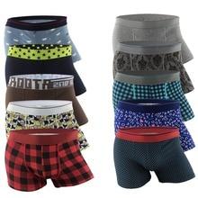 Уникальный дизайн, дышащие хлопковые боксеры, мужское мягкое нижнее белье, сексуальные трусы, cueca masculina homme marca Boxer calzoncillos