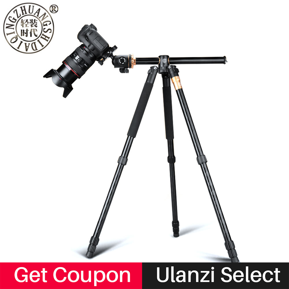 Professional Camera Tripod Monopod Stand Axis Transverse with 360 Degree Ball Head Quick Release Plate for DSLR SLR Camera DV qzsd q999c carbon fiber professional camera tripod monopod stand