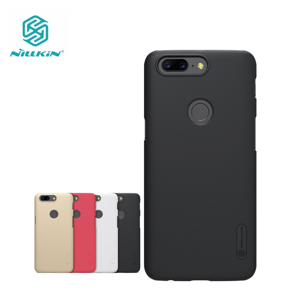 OnePlus 5 T Fall Nillkin Mattschild Kunststoff Rückseitige Abdeckung Fall für OnePlus 5 T One Plus 3 A3000 Geschenk Displayschutzfolie