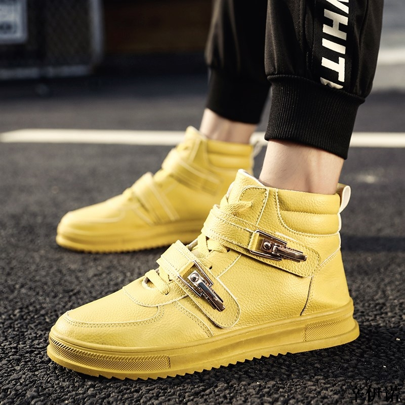 cded9370a1 Nueva Marca diseñador Hip Hop Hombre Zapatos Casual hombres zapatos Tenis  Sapato Masculino Heren Schoenen alto Top zapatillas Basket hombre zapatos  en ...