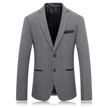 2016 new model males's leisure High high quality fits jackets  Men trend wool Casual Coat Men's Blazers fits Free delivery