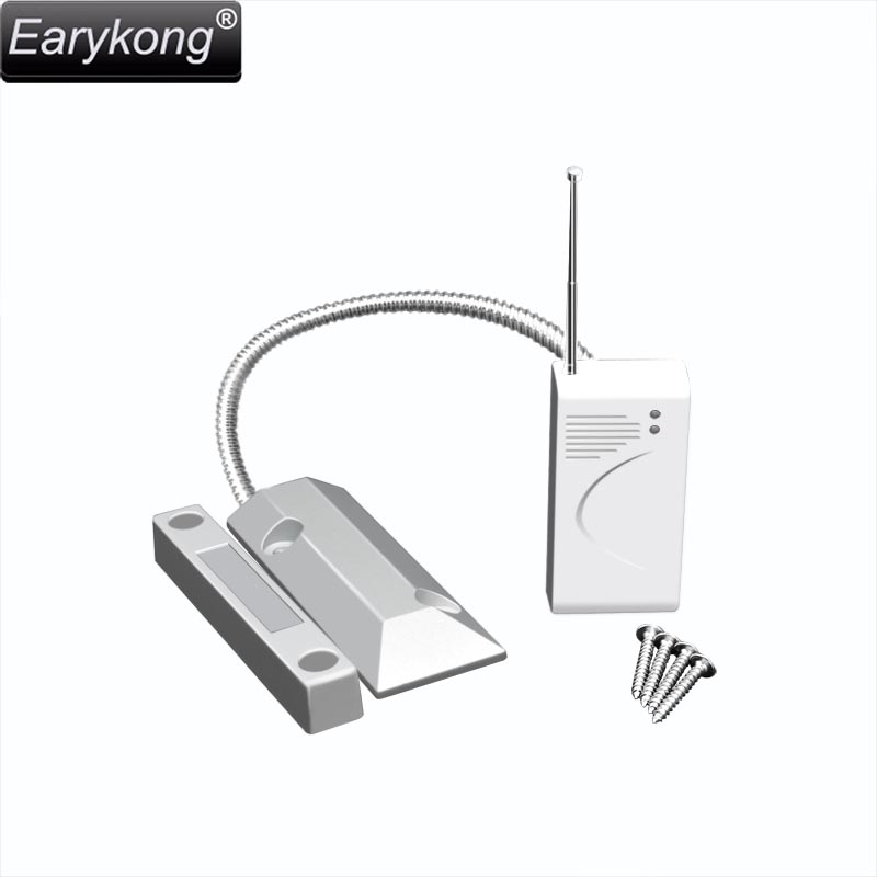 New Earykong 433MHz Wireless <font><b>Metal</b></font> Door Open Detector, door magnet alarm, waterproof, for Home Burglar Alarm System,