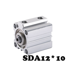 SDA12*10 Standard cylinder thin cylinder Aluminum Alloy SDA Type Pneumatic Cylinder 12mm Bore 10mm Stroke Thin Air Cylinder  free shipping sda 12 25 thin type cylinder 12mm bore 25mm stroke double action pneumatic compact air cylinders