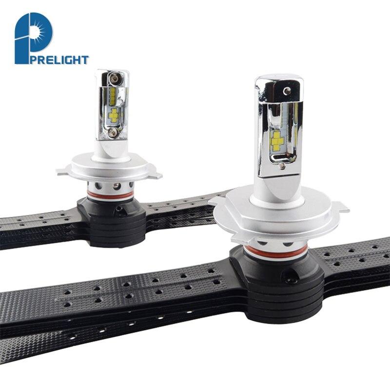 Nouvelle LED Phare De Voiture F1 H4 CSP Puce 4000LM 6500 K 12 v 24 v Auto LED Lampe Phare Ampoules Auto Phare Lumineux 1 Paire H4 LED Ampoule dans Phare Ampoules de Automobiles et Motos
