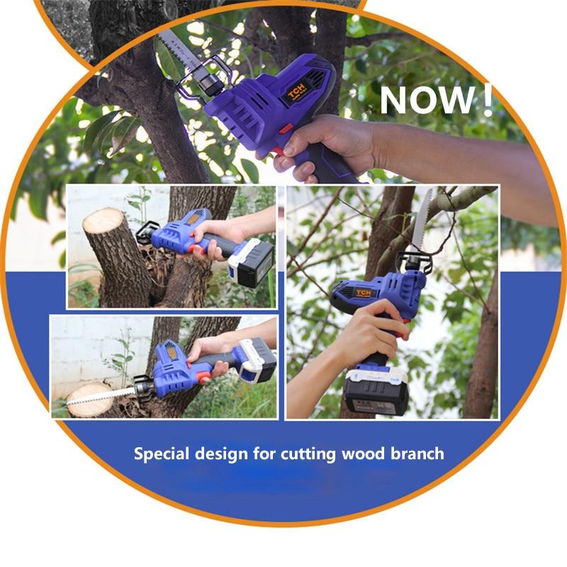 В 16 В Портативная зарядка поршневая пила TCH электрическая сабля пила mutifunctional беспроводной Электрический силовой инструмент для дерева