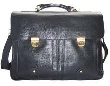 """Hommes de serviette de cuir hommes véritable porte – documents en cuir pour 15 """" business Case mallette portable fourre – tout mâle sac messager noir"""