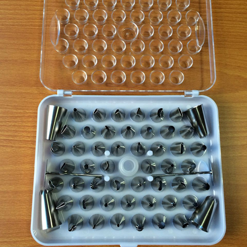 52pcs/Set Stainless Steel Icing Piping Nozzles For Pastry Cake Decorating Sugar Craft Home <font><b>Kitchen</b></font> <font><b>Tools</b></font> bicos de confeitar <font><b>inox</b></font> image