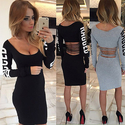 Vestidos Dress Mujeres Delgado Sport Vintage Gris Sexy Negro 2016 87qw6p