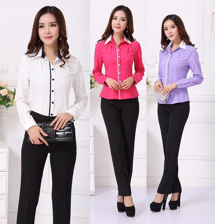 Formal uniform design female pantsuits office ladies work for Office uniform design 2016
