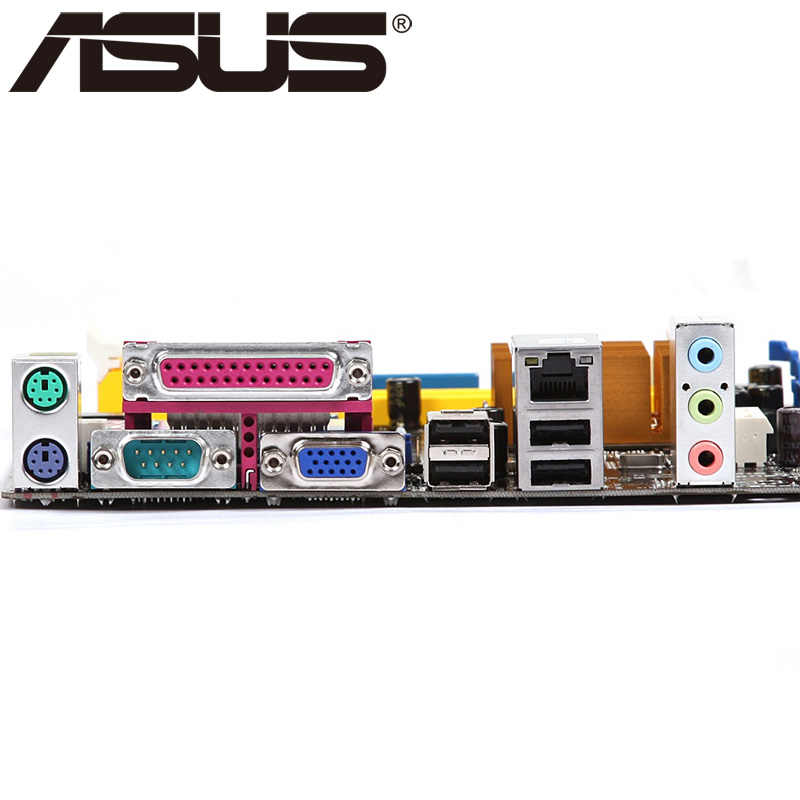 Asus P5QPL-AM เมนบอร์ดเดสก์ท็อป G41 ซ็อกเก็ต LGA 775 สำหรับ Core 2 Extreme Quad Duo Pentium D Celeron DDR2 8G U ATX เดิมใช้
