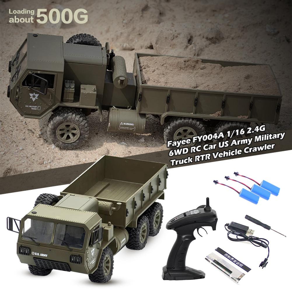 Fayee FY004A 1/16 2,4 г 6WD 15 км/ч Радиоуправляемый автомобиль США армейский военный грузовик RTR модель открытый автомобиль игрушки для мальчиков