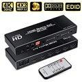 2020 Лучший 4K 4x2 HDMI матричный переключатель разветвитель переключатель EDID Настройка HDMI переключатель 4x2 с двойным SPDIF & оптический Toslink HDMI матр...
