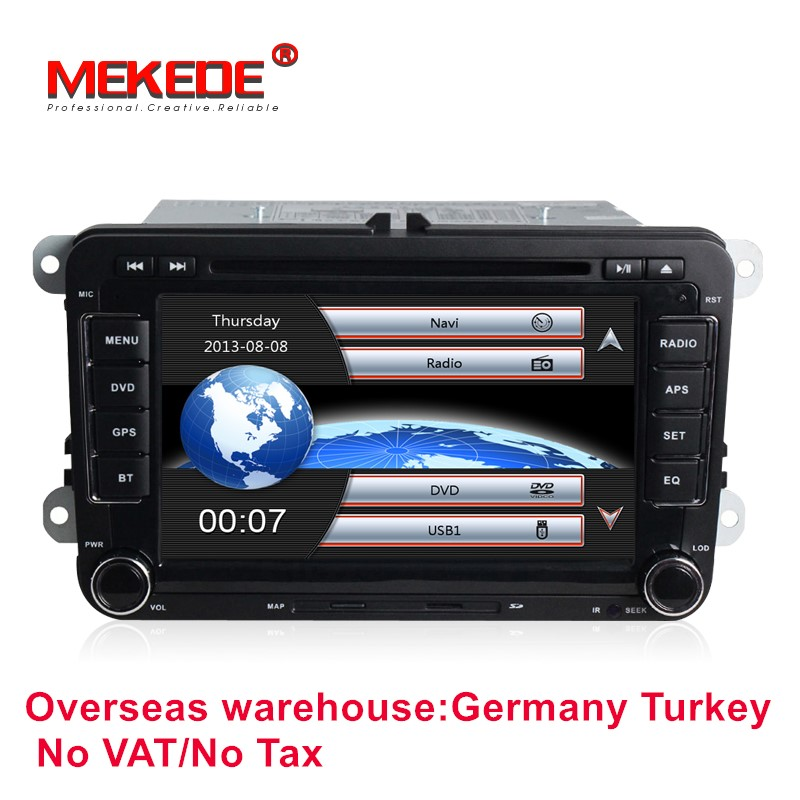 Commercio all'ingrosso Auto lettore DVD radio stereo per vw Tiguan 2007-2011 Amarok Golf MK7 Patrick 2004-2008 ''capacitivo screen libera la nave