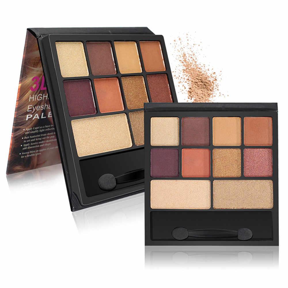 10 kleuren Shimmer Matte Oogschaduw Oogschaduw Palet Cosmetische Borstel Set Oogschaduw Poeder Regenboog Shimmer Makeup Beauty G509