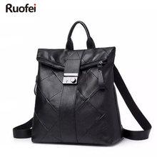 Fashion Brand Women Backpack High Quality Youth Leather Backpacks for Teenage Girls Female School Shoulder Bag Bagpack mochila цена 2017