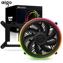 Aigo צל מעבד קריר TDP 280W PWM LED הילה סנכרון 3p 5V 4pin כפול טבעת RGB מעבד מאוורר קירור גוף קירור Intel Core i7 LGA 115x
