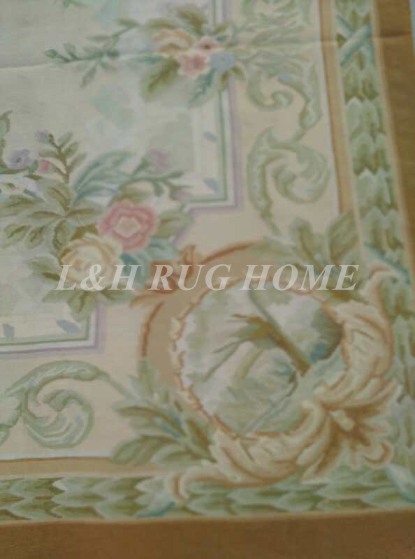 Free Shipping 6'X9' French Aubusson Rug, 100% hand woven New Zealand woolen rug - 2