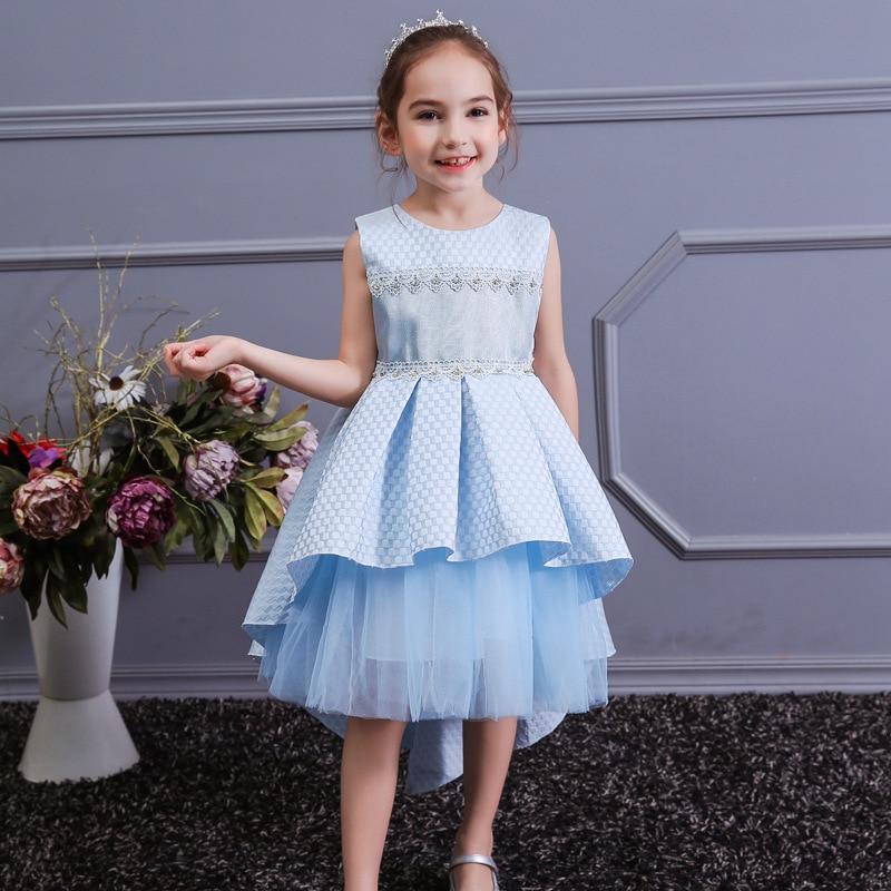 Children Girl Party Dress Wedding Christmas Evening Formal Dresses Kids Sleeveless Flower Dresses For Girls 3-10 Years Princess